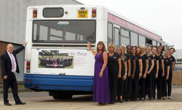 Members of the choir with Roger Birch of Network Colchester.  Picture: Nigel Brown, Colchester Gazette