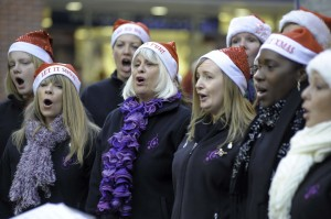 Carol singing in Culver Square
